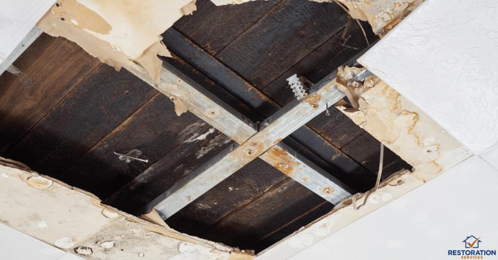 ceiling water damage repair cost