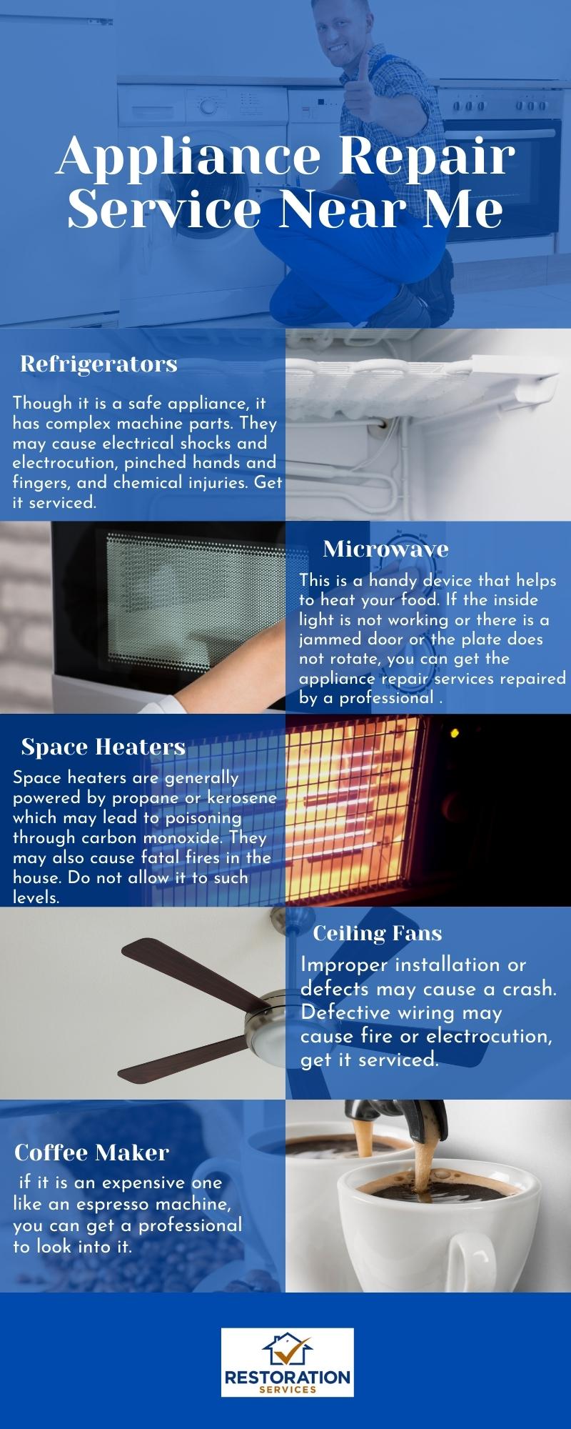 Appliance repair services near me